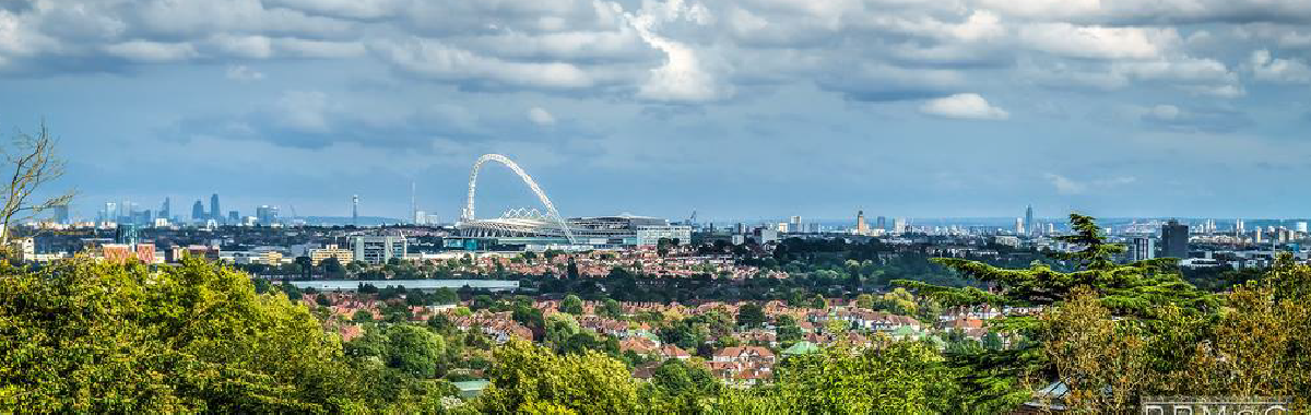 A view of Wembley, Brent, and beyond
