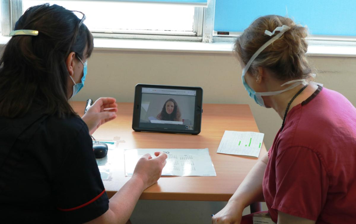 Staff are connecting with patients via virtual clinics clinics.